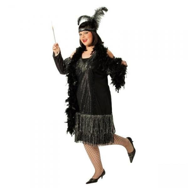 a57d4ada9c7 Kostým z 20. let - černý deluxe - Karnevalové kostýmy Praha